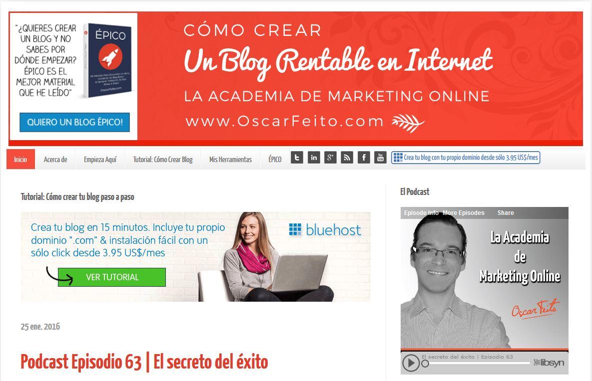 Web de Oscar Feito