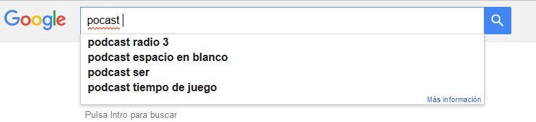 sugerencia de palabras claves de google