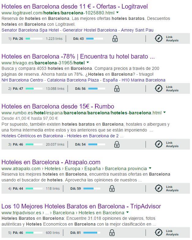 resultado por hotel barato