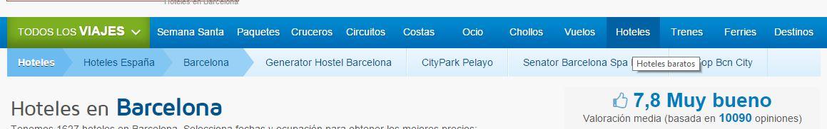 localizado la palabra hoteles baratos barcelona
