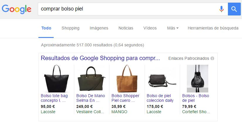 Adwords en Google Shopping