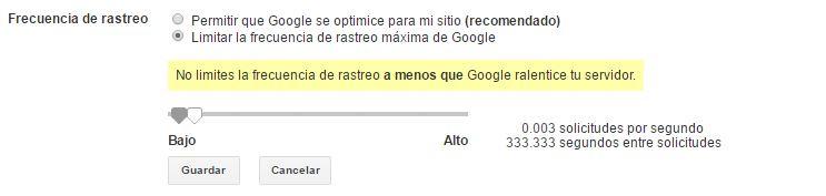 frecuencia crawler de google