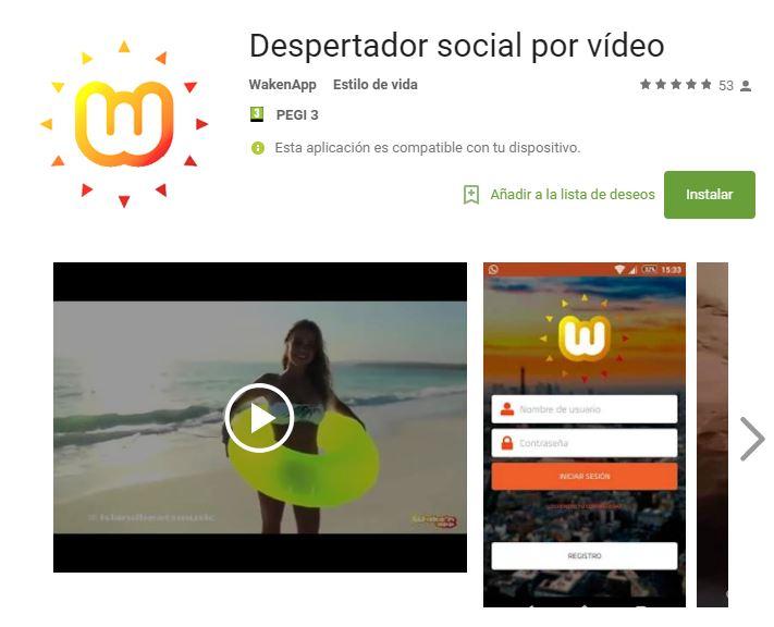 app despertador social
